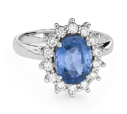 "Engagement ring with gemstones ""Sapphire 38"""