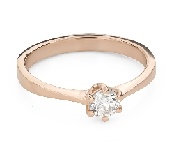 """Engagement ring with brilliant """"The queen 61"""""""