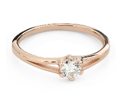 """Engagement ring with brilliant """"In love 61"""""""