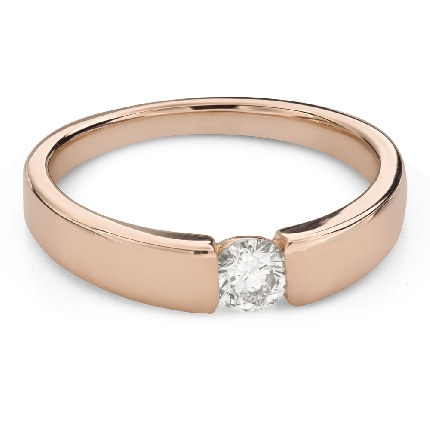 """Engagement ring with brilliant """"Between the rocks 46"""""""