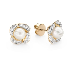 """Gold earrings with gemstones """"Colors 100"""""""