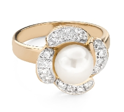 """Engagement ring with brilliant """"Flower 6"""""""