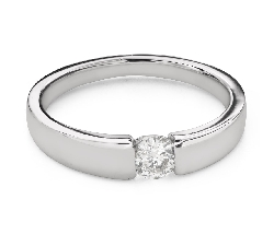 """Engagement ring with brilliant """"Between the rocks 47"""""""
