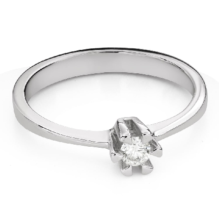 """Engagement ring with brilliant """"Strength 122"""""""