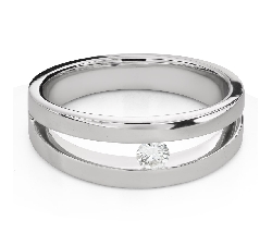 """Engagement ring with brilliant """"Between the rocks 48"""""""