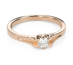 """Engagement ring with brilliant """"The only one 147"""""""