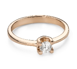 """Engagement ring with brilliant """"Strength 123"""""""