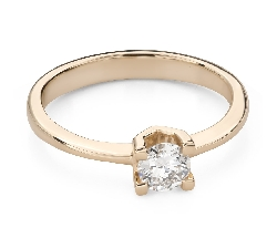 """Engagement ring with brilliant """"Strength 124"""""""