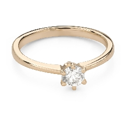 """Engagement ring with brilliant """"The queen 62"""""""