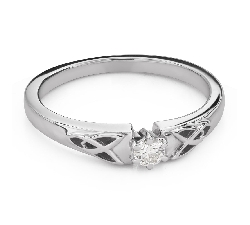 """Engagement ring with brilliant """"The only one 144"""""""