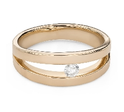 """Engagement ring with brilliant """"Between the rocks 44"""""""