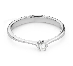 """Engagement ring with brilliant """"The queen 70"""""""