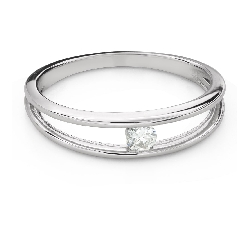 """Engagement ring with brilliant """"Between the rocks 52"""""""