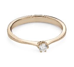 """Engagement ring with brilliant """"The queen 71"""""""