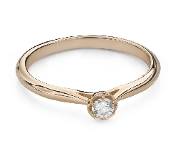 """Engagement ring with brilliant """"Flower 9"""""""
