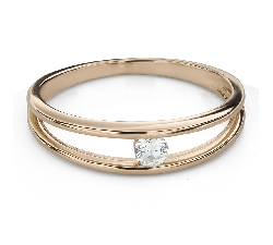 """Engagement ring with brilliant """"Between the rocks 54"""""""