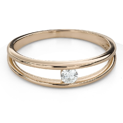 """Engagement ring with brilliant """"Between the rocks 55"""""""