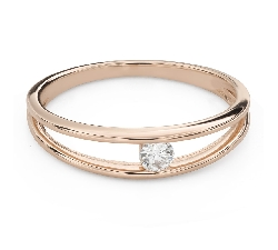 """Engagement ring with brilliant """"Between the rocks 56"""""""