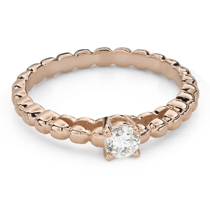 """Engagement ring with brilliant """"Strength 129"""""""
