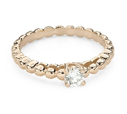 """Engagement ring with brilliant """"Strength 130"""""""