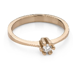 """Engagement ring with brilliant """"Strength 132"""""""