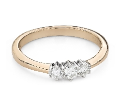 """Engagment ring with brilliants """"Trilogy 46"""""""