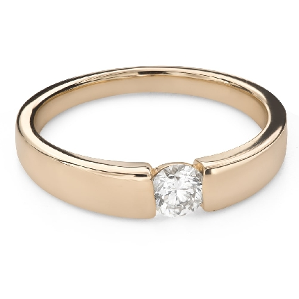 """Engagement ring with brilliant """"Between the rocks 57"""""""