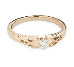"""Engagement ring with brilliant """"The only one 149"""""""