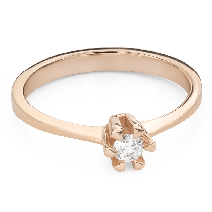 """Engagement ring with brilliant """"Strength 134"""""""