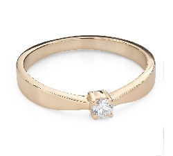 """Engagement ring with brilliant """"Strength 135"""""""