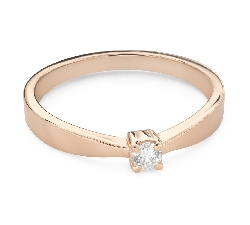 """Engagement ring with brilliant """"Strength 136"""""""