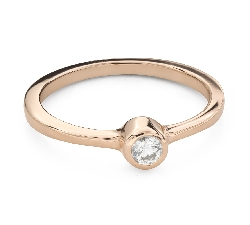 """Engagement ring with brilliant """"Embraced 33"""""""