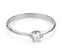 """Engagement ring with brilliant """"The queen 74"""""""
