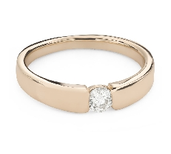 """Engagement ring with brilliant """"Between the rocks 61"""""""