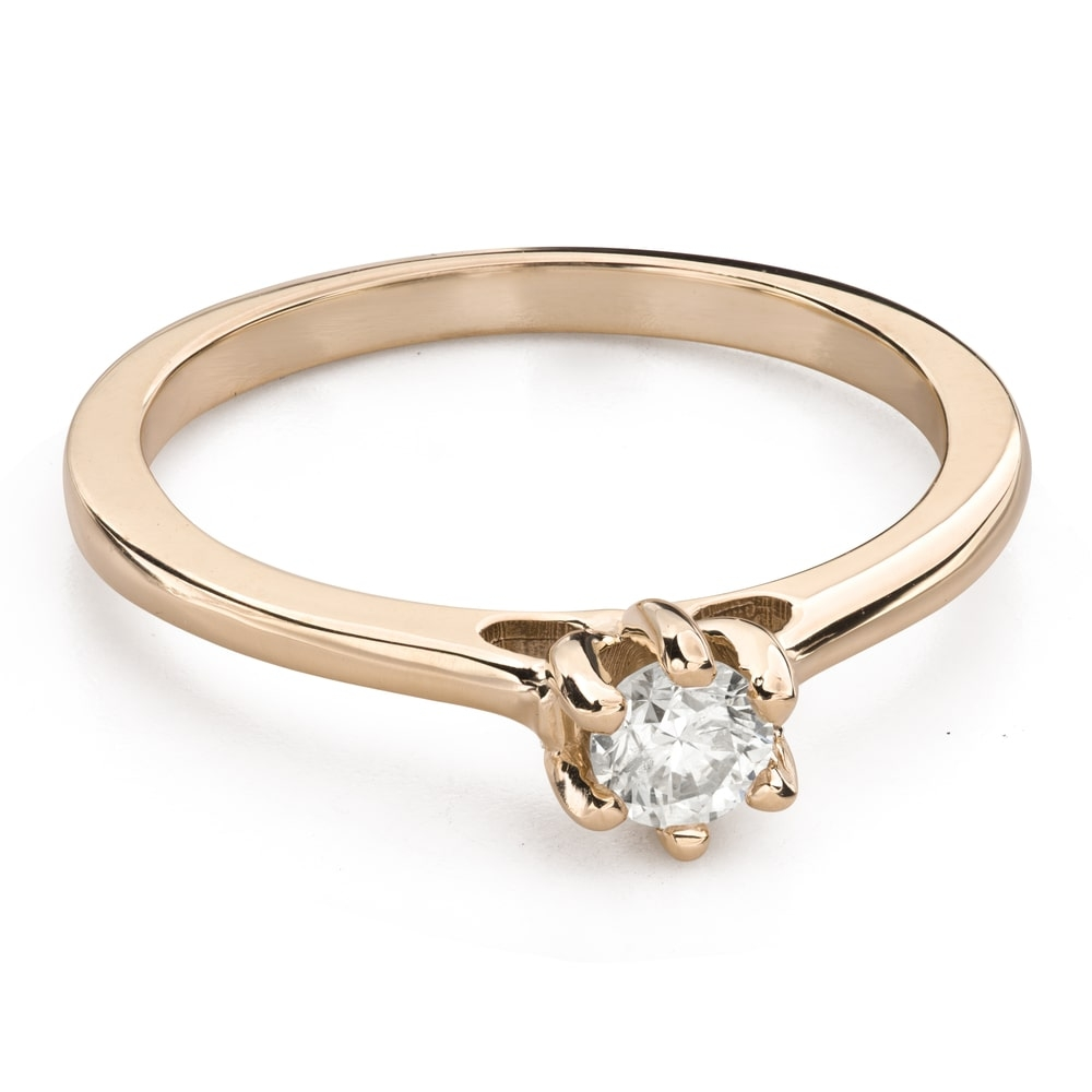 """Engagement ring with brilliant """"Queen of the Heart 34"""""""