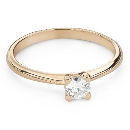"""Engagement ring with brilliant """"Goddess 206"""""""