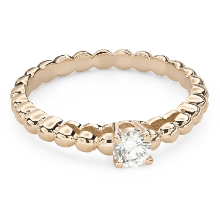 """Engagement ring with brilliant """"Strength 138"""""""