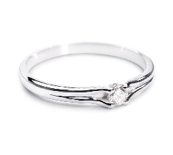 """Engagement ring with brilliant """"Subtle 19"""""""