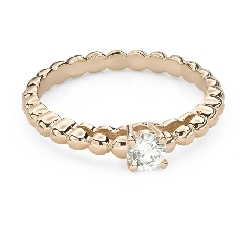 """Engagement ring with brilliant """"Strength 137"""""""