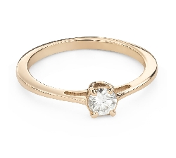 """Engagement ring with brilliant """"Goddess 212"""""""