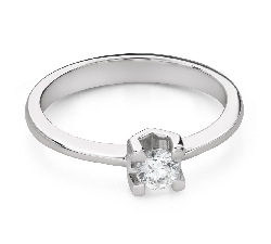 """Engagement ring with brilliant """"Goddess 214"""""""