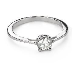 """Engagement ring with brilliant """"Goddess 207"""""""