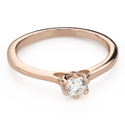 """Engagement ring with brilliant """"Queen of the Heart 33"""""""