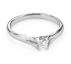 "Engagement ring with diamond ""Princess 110"""