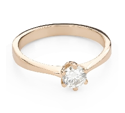 """Engagement ring with brilliant """"The queen 78"""""""