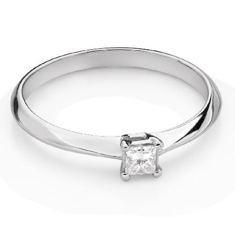 "Engagement ring with diamond ""Princess 114"""