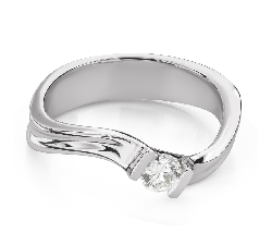 """Engagement ring with brilliant """"Hurricanes 41"""""""