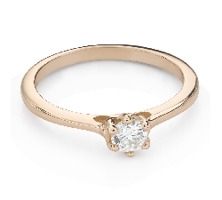 """Engagement ring with brilliant """"Queen of the Heart 36"""""""