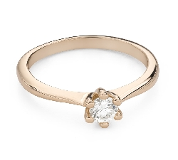"""Engagement ring with brilliant """"The queen 79"""""""