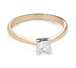 "Engagement ring with diamond ""Princess 116"""